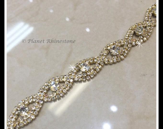 1 yard crystal trim (silver, Rose Gold) #0109