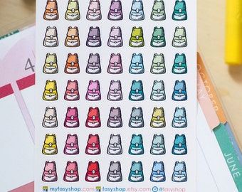School Bags | Bagpacks Mini Icons -  Colourful Hand Drawn Sticker Planner