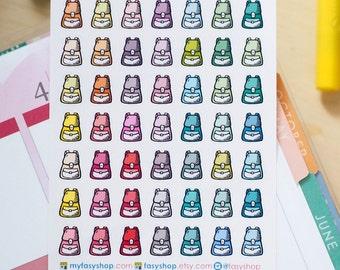 School Bags   Bagpacks Mini Icons -  Colourful Hand Drawn Sticker Planner