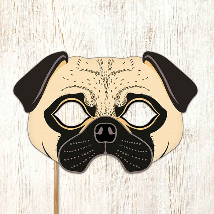 Luscious image with dog mask printable