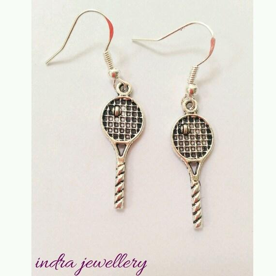 tennis earrings tennis racquet earringstennis racquet and