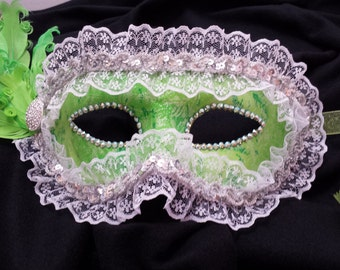 Green and silver mask