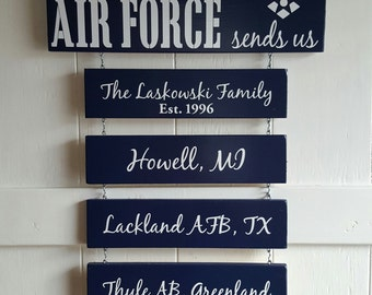 Home is where the Air Force sends Us Air Force & Emblem in WHITE