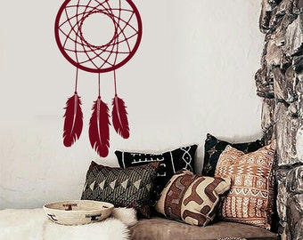 Wall Vinyl Decal Bedroom Decor Dream Catcher Quote Quote We Only Live Once Modern Ethnic Home Art (#1085dz)