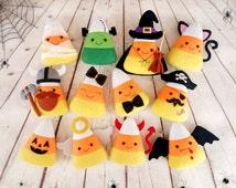 Halloween Decor Candy Corn Felt Toy Set 12 Pieces Halloween Party Halloween Gift Baby Shower Favors Halloween Ornaments Halloween Decoration