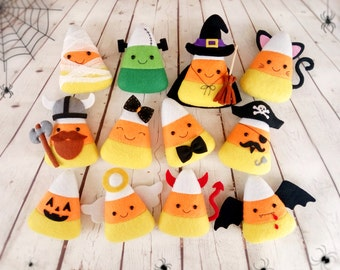 Halloween Decor Candy Corn Felt Toy Halloween Party Halloween Gift Baby Shower Favors Halloween Ornament Halloween Decoration Trick or Treat