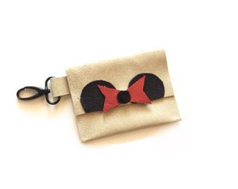 Mouse Ear Coin Purse - Leather Hip Pack, Kids Purse, Toddler Purse, Little Girls Coin Purse. Mini Hip Pack