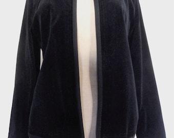 Vintage black jacket blazer velvet hippie boho size S/M