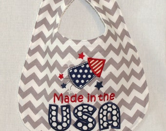 SALE *** Made in the USA Bib - American bib for your baby
