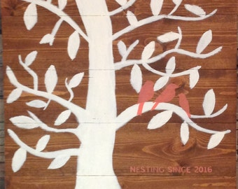 Family Tree Nesting Since Personalized Wooden Sign