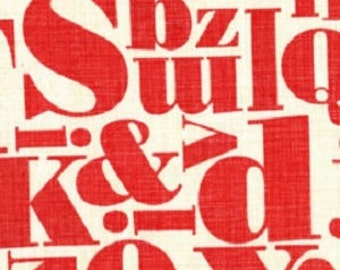"Letterpress from ""Just MyType"" Collection by Patty Young for Michael Miller Fabrics"
