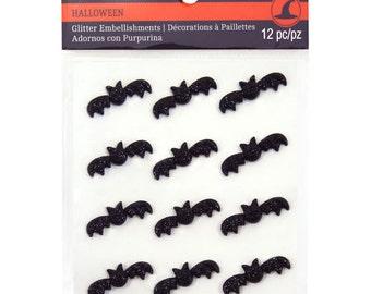 Recollections Glitter Bats - Halloween Stickers, Bat Stickers