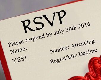 RSVP Stamp, Custom RSVP Stamp, Self Inking RSVP Stamp, rsvp Card Stamp, rsvp Wood Mounted Stamp, Wedding Invitation Stamp HS191P