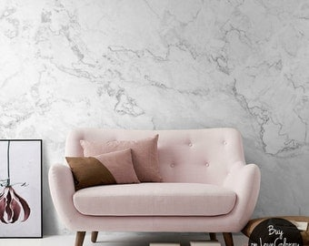 White Marble Removable Wallpaper, Stone Texture Wall Mural – Peel and Stick Wallpaper, Self Adhesive Marble Pattern Mural, Wall murals #9