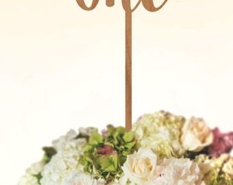 Rustic Script Wood *Table Numbers* or *Cake Toppers*