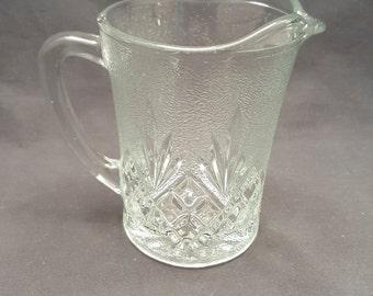 Vintage KIG Indonesia Glass Milk Pitcher Creamer Server