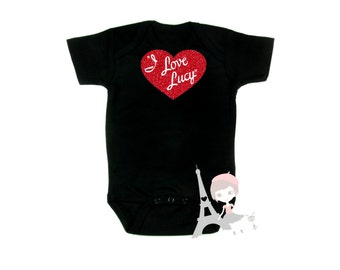 I Love Lucy Shirt - Girls Baby Toddler Kids - TV Sitcom Logo Classic Hollywood - Lucille Ball