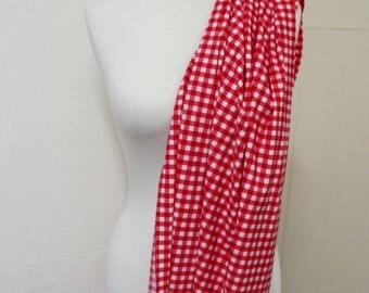 Strawberry Gingham Nylon Lycra // Swimwear Fabric // Dancewear // Activewear // 2 Way Stretch