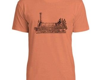Mintage Steam Powered Train Mens Fine Jersey T-Shirt