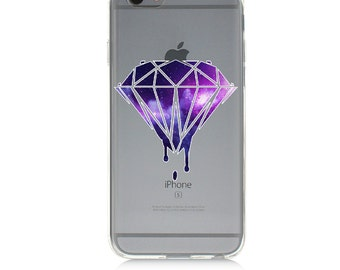 iPhone 7 Clear Case -Bleeding Diamond - Protective TPU cover for iPhone 7 - 7 plus - iPhone 6s -  6s plus - Samsung Galaxy s5 s6 s7 Note 7