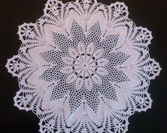 crochet doily white doily table topper  100% Cotton white lace table centerpiece table decoration home decor large doily crochet doilie