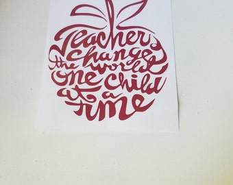 Teacher Decal Etsy - Vinyl decals for cups