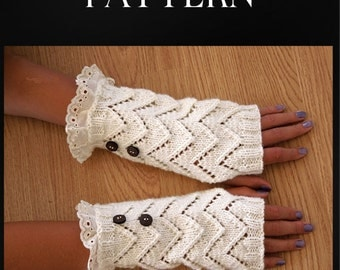 Knitting PATTERN - Fingerless Gloves - Easy Project, Instant Download