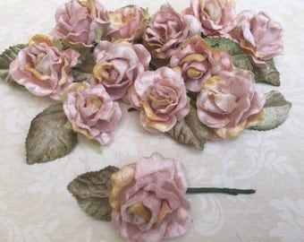 velvet baby roses set of 12. velvet roses.