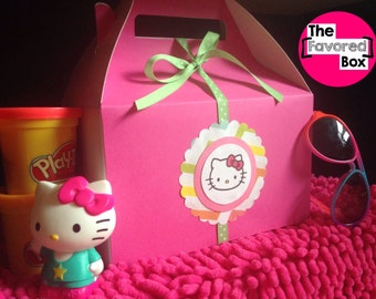 6 Large Hello Kitty Birthday Party Favor Boxes