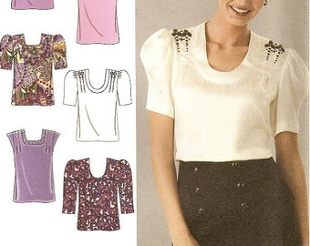 Womans Blouse Sewing Pattern UNCUT Simplicity 2856 Miss Size 6-14