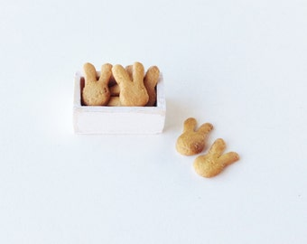 Dollhouse Easter Rabbit Cookies | 1:12 Scale Miniature Cookies