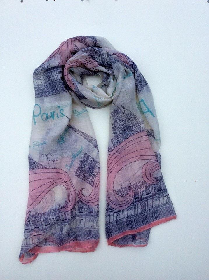 scarf parisian gift scarf gift shawl empathy