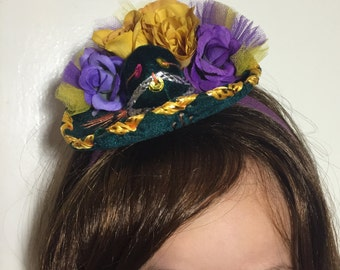 Mini Green Sombrero headband