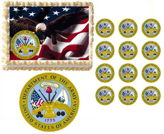 US Army Edible Cake Topper Image Army Cake Army Cupcakes