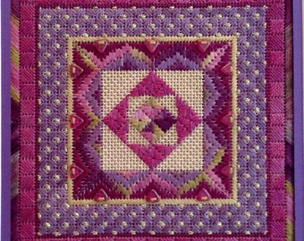 Secret Garden Geometric Design Needlepoint  Complete Kit
