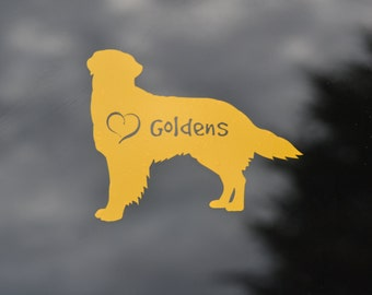 Golden Retriever Decal - Dog Car Decal - Golden Retriever Sticker - Dog Rescue - Golden Retriever Accessories, Who Rescued Who