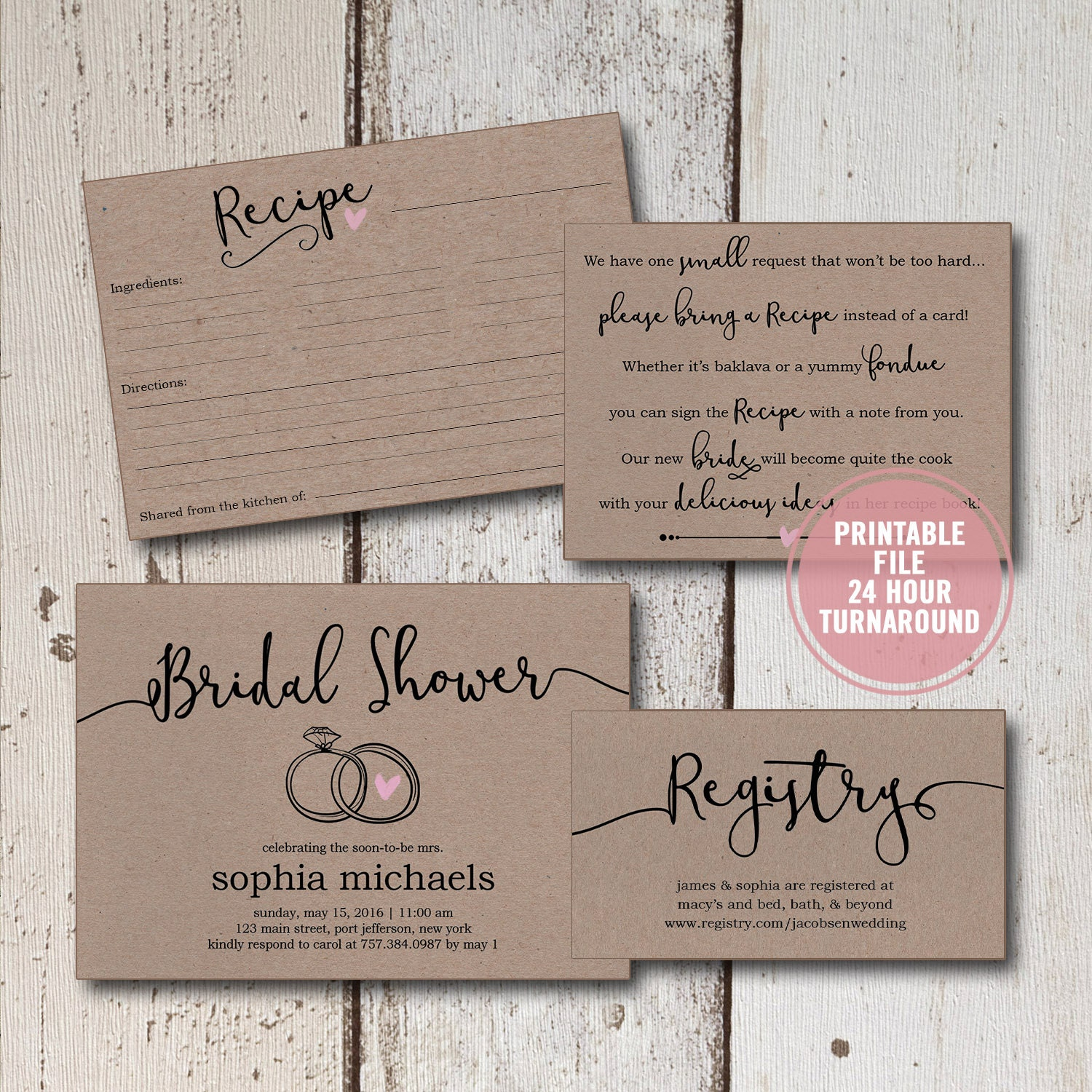 Candid image with printable shower invitations