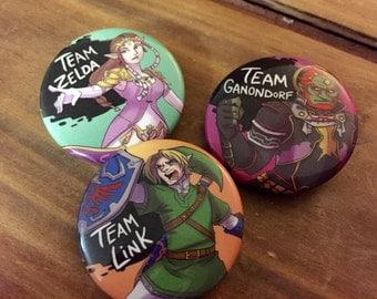 Legend of Zelda Link Zelda Ganondorf Super Smash Brothers Pins