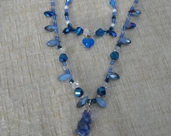 Blue Dog Necklace and Bracelet