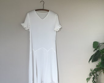 Vintage 1930s Rayon Day Dress