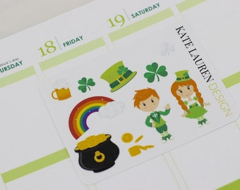 St. Patty's Day Planner Stickers, St. Patrick's Day Planner Stickers, St. Paddy's Day Planner Stickers