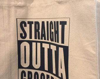 Straight Outta Groceries Market Tote