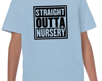 Straight outta nursery LDS Mormon Latter Day Saint funny humor tshirt