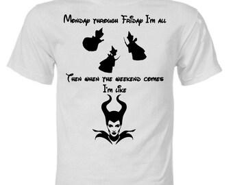 Disney Maleficent Fairy Monday through Friday Shirt