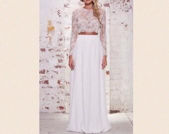 Maxi chiffon skirt / floor length skirt / bridesmaid skirt / bridesmaid full length bubble skirt / bubble hem chiffon skirt / zipper back /