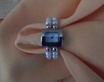 Vintage Geneva Cuff Wrist Watch Quartz