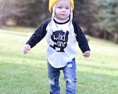 Where the wild things are, wild one, first birthday shirt, I'll eat you up, trendy, raglan, baseball tee, toddler boy, baby boy, baby girl