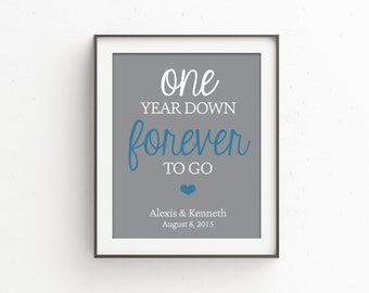 One Year Anniversary Gifts for Men | Anniversary Gift for Wife | Gift for Her | 1 Year Anniversary Gift | First Anniversary | 1st One Year