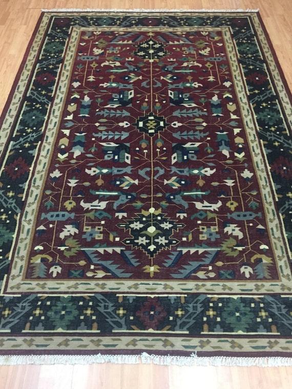 "6'3"" x 9' Turkish Kilim (Kelim) Oriental Rug - Hand Made - 100% Wool"