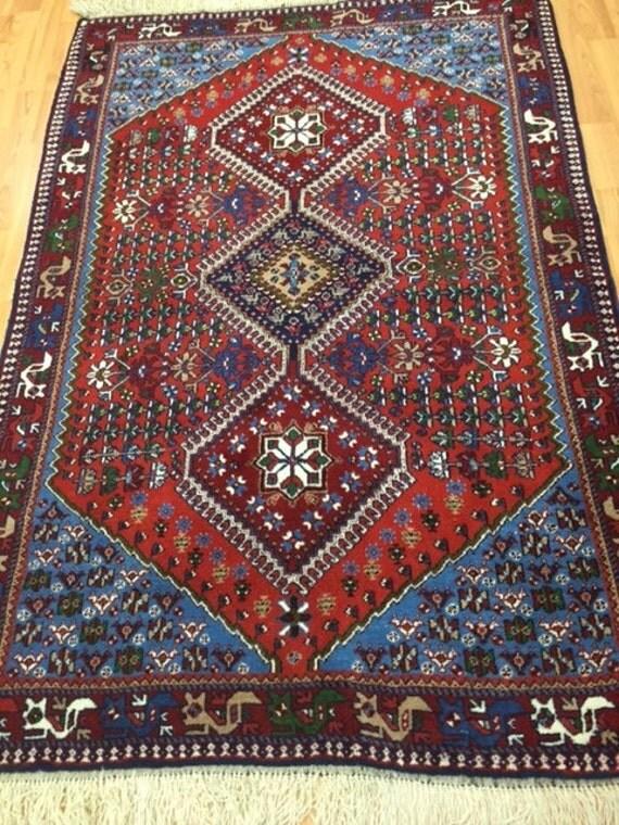 "3'6"" x 5'2"" Persian Yalameh Oriental Rug - Hand Made - 100% wool"